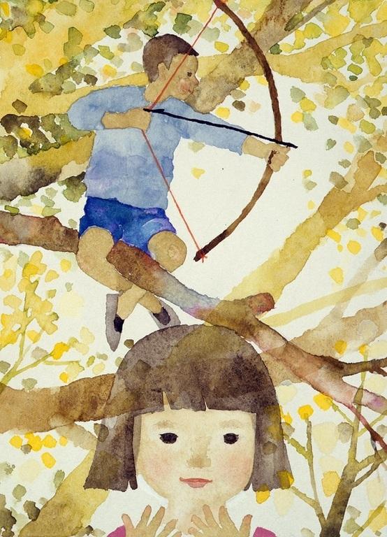 いわさきちひろ 「ノンちゃん雲に乗る」『少年少女日本文学全集16』(講談社)より 1962年