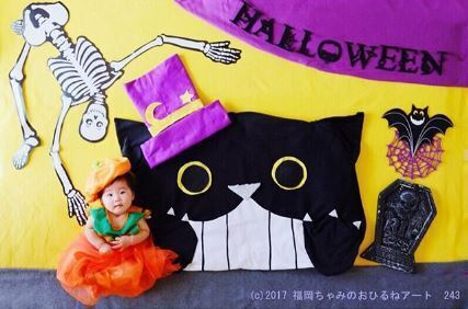 黒猫のハロウィン