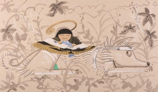 瀬川康男 『ぼうし』(福音館書店)より 1983年 ちひろ美術館蔵
