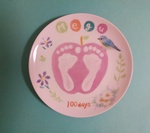 ハーフバースデーや100日祝い、1歳記念に♪赤ちゃんの足形をプレートにしよう!自由が丘