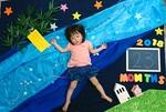 練馬区大泉赤ちゃんからできる手形・足形アート+七夕ベビーアート