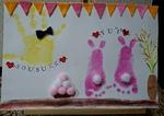 9月18日落合南長崎赤ちゃんからできる手形足形アート