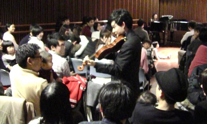 新進気鋭の渡邊達徳のヴァイオリンで