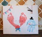 目黒10月8日 手形アート時計づくり パパも参加できる家族ゾウは大人気。ハロウィンアートも