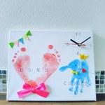 ららぽーと横浜 10月11日 赤ちゃんと手形アート時計