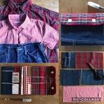 【ママのお洋服が、大切なお子様の布小物に変身‼️手縫いでちくちく 簡単リメイク母子手帳カバーを作ろう♡】