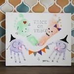 10月10日赤ちゃんのためのワークショップ時計付手形足形アート