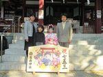 葛西神社【七五三詣】人力車で記念撮影!
